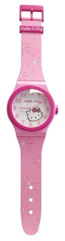 Hello Kitty Wandhorloge meisjes roze 55 cm
