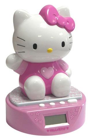 Hello Kitty Wekker meisjes roze 14 x 19,5 x 14 cm