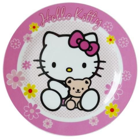 Hello Kitty Bord Roze 19 cm