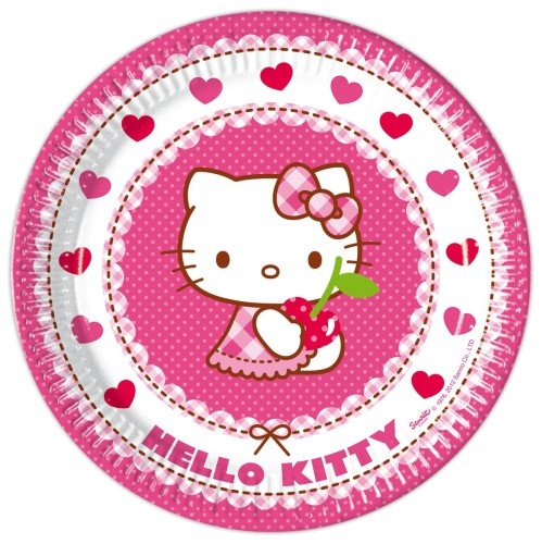Bordjes Hello Kitty 23 Cm: 6 Stuks