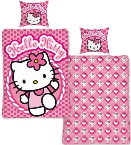 Hello Kitty dekbedovertrek cirkel140 x 200 cm