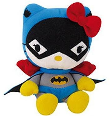 Hello Kitty Knuffel Batwoman meisjes zwart/wit 27 cm