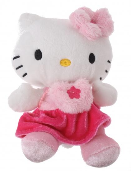 Hello Kitty Knuffel Bean Bag meisjes roze 15cm