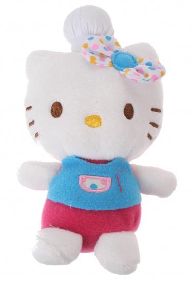 Jemini Hello Kitty Knuffel Fait La Cuisine meisjes blauw 11 cm