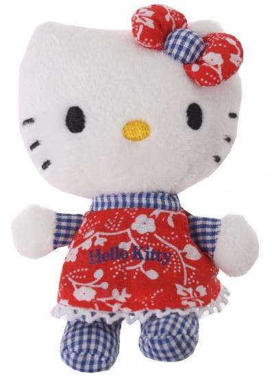 Hello Kitty Knuffel Mini meisjes Rood 10 cm