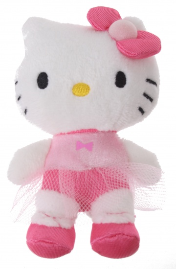 Hello Kitty Knuffel Mini meisjes Roze Stip 10 cm