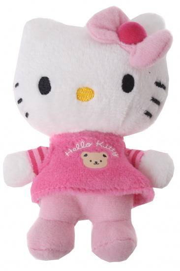 Hello Kitty Knuffel Mini meisjes Roze Streep 10 cm