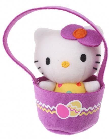 Hello Kitty Knuffel Panier meisjes paars 12 cm