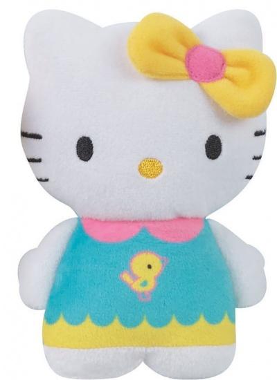 Hello Kitty Knuffel portemonnee meisjes geel 15 cm