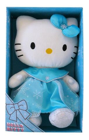 Hello Kitty Knuffel Princess meisjes blauw 27 cm