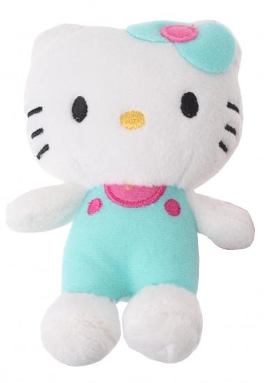 Hello Kitty Knuffel Salopette meisjes blauw 12 cm