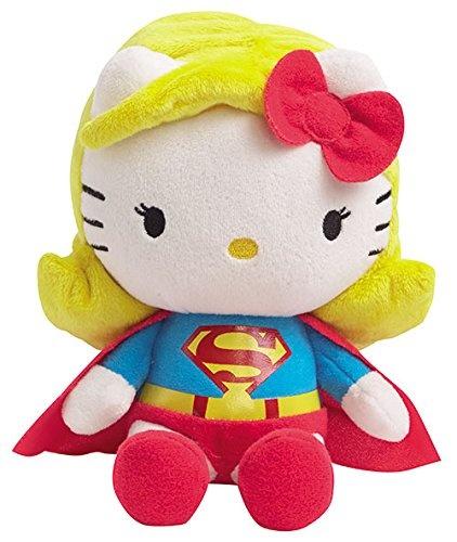Hello Kitty Knuffel Super Woman meisjes geel/rood 17 cm