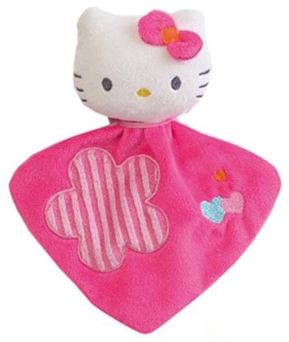 Hello Kitty Knuffeldoekje met Rammelaar meisjes roze 16 cm
