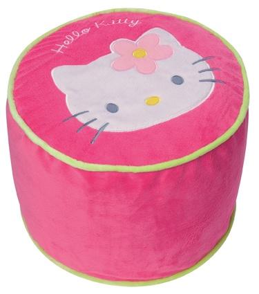 Hello Kitty Poef Opblaasbaar meisjes roze 35 x 32 cm