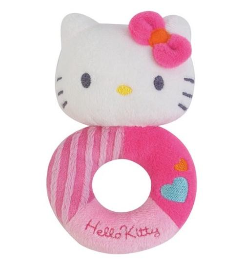 Hello Kitty Rammelaar Musical meisjes roze 13 cm