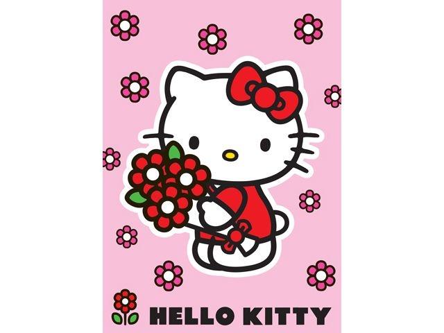 Hello Kitty Speelkleed Bloemen Roze 95X133CM