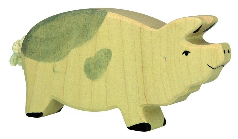 Holztiger Houten Boerderij: Mannetjesvarken Gevlekt