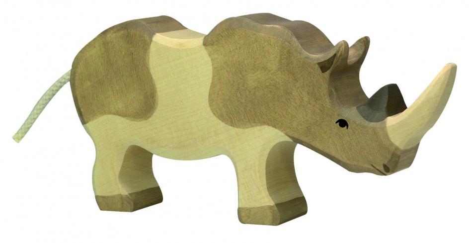 Holztiger Houten Neushoorn
