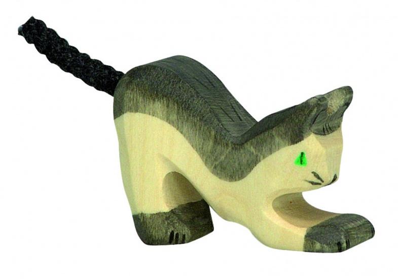 Holztiger Houten Spelende Kat