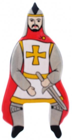 Holztiger Houten Sprookjes en Ridders: Ridder Rijdend Rood