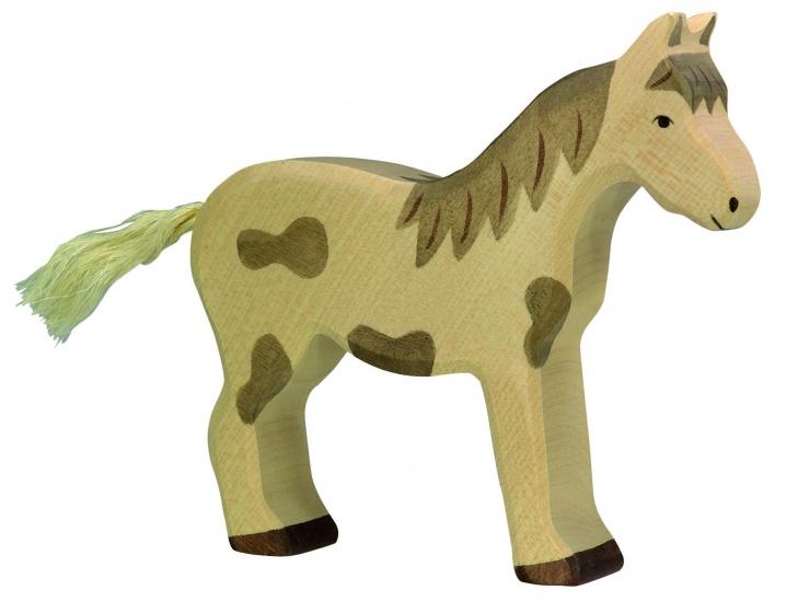 Holztiger Houten Staand Gevlekt Paard
