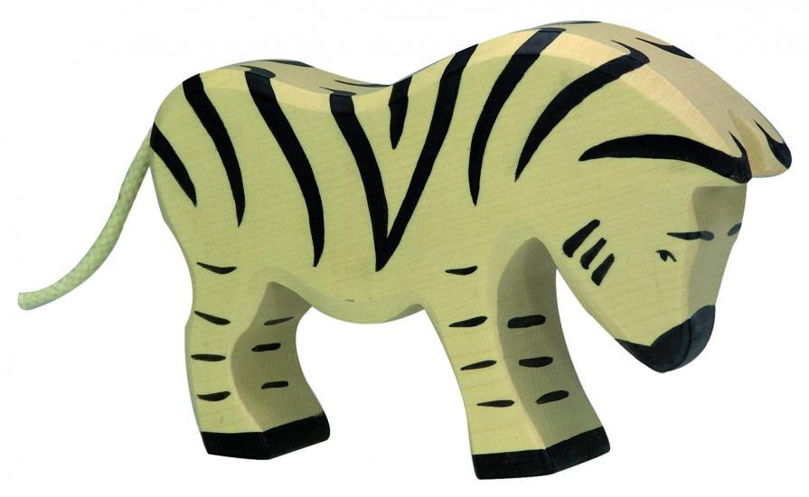 Holztiger Houten Wildernis: Zebra Etend