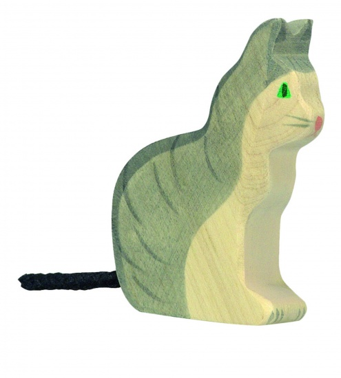 Holztiger Houten Zitende Kat