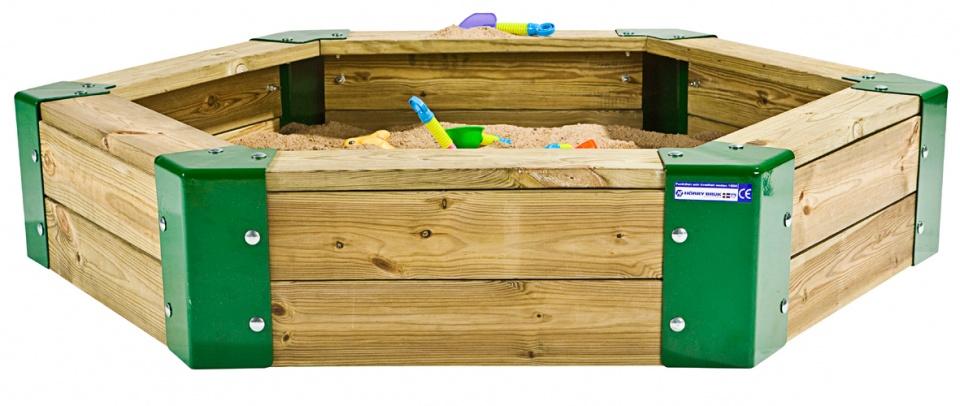 H�rby Bruk zandbak 150 x 110 x 28 cm bruin/groen