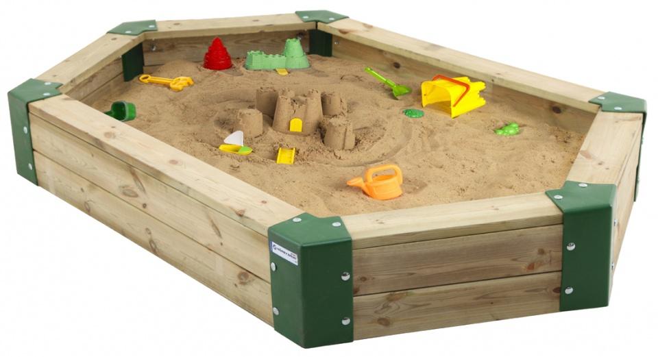 H�rby Bruk zandbak 210 x 110 x 25 cm bruin/groen