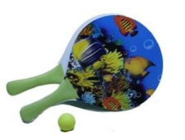 Hot Sports Beachball Set Hout 8mm Vissen