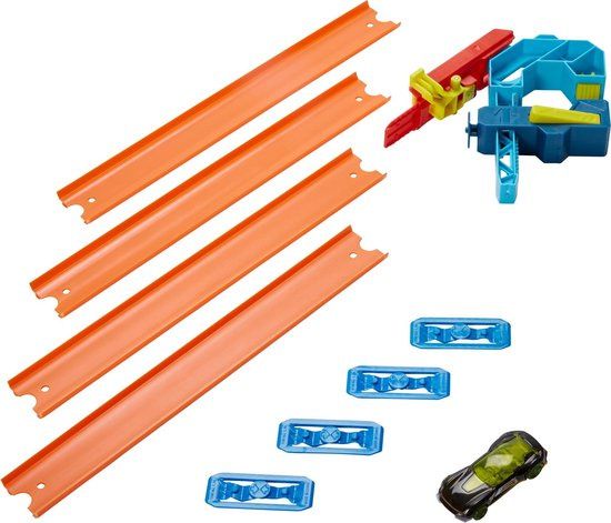 Hot Wheels afdalingsset Builder junior 6 x 31 x 19 cm 11 delig