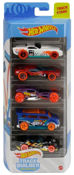 Hot Wheels autoset Trackstars 7,5 x 2,5 cm staal 5 delig