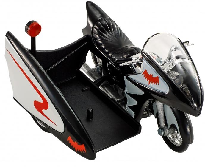 Hot Wheels Batman voertuigen: Batcycle 7 cm