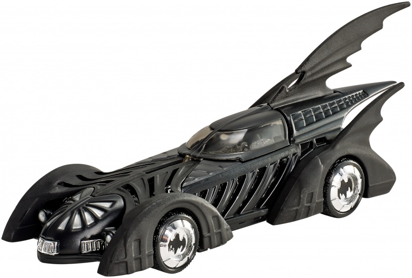 Hot Wheels Batman voertuigen: Batman Forever Batmobile 7 cm