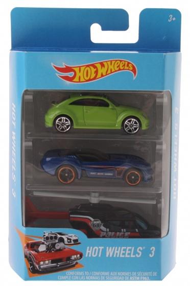 Hot Wheels cadeauset met 3 voertuigen groen/blauw/zwart