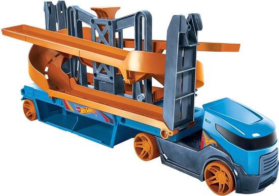 Hot Wheels City Lift en Lanceer Trailer oranje-blauw