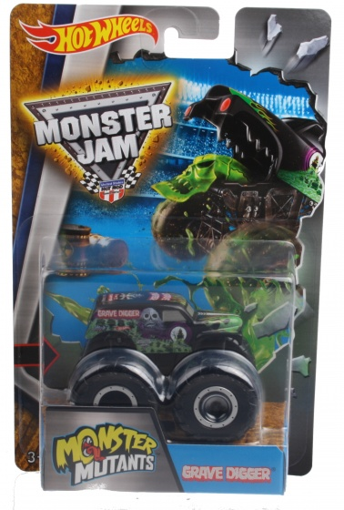 Hot Wheels Monster Mutants monster truck Grave digger zwart
