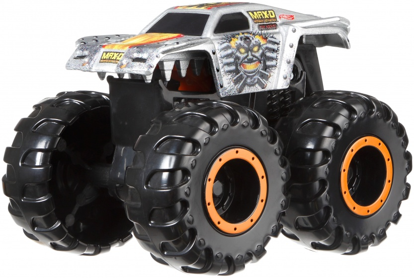 Hot Wheels Monster Mutants monster truck Max D grijs 9 cm