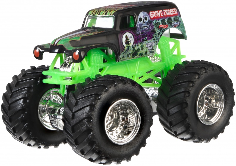 Hot Wheels monster truck Grave Digger zwart 9 cm