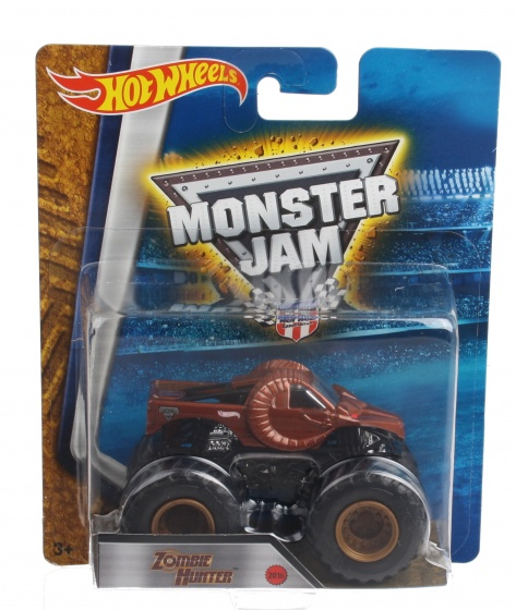 Hot Wheels monster truck Zombie Hunter rood 9 cm