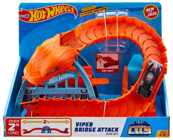 rennbahnbrücke Viper AttackJungen 61 cm orange 4-teilig