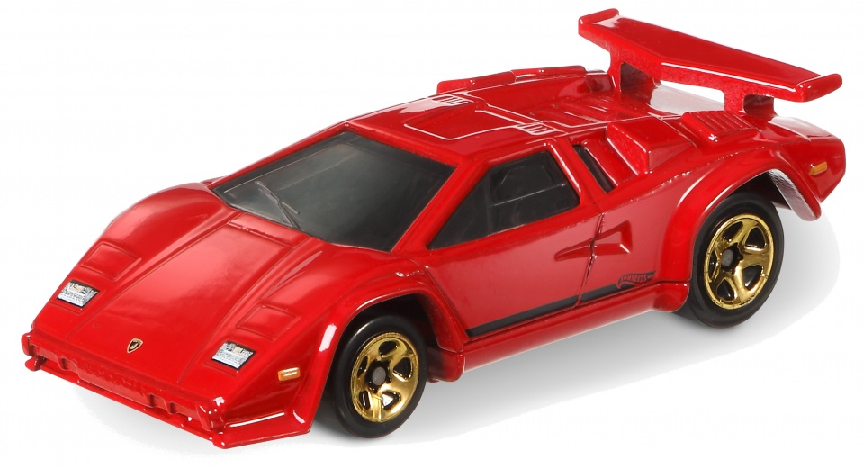 hot wheels sports car lamborghini countach red 7 cm. Black Bedroom Furniture Sets. Home Design Ideas
