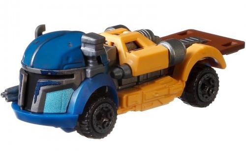 Hot Wheels voertuig Star Wars Heavy Infantry 7 cm blauw-geel