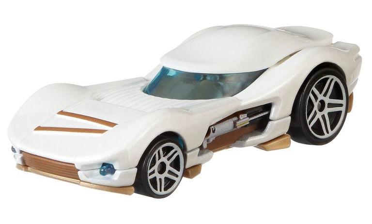 Hot Wheels voertuig Star Wars Rey 7 cm diecast wit-goud