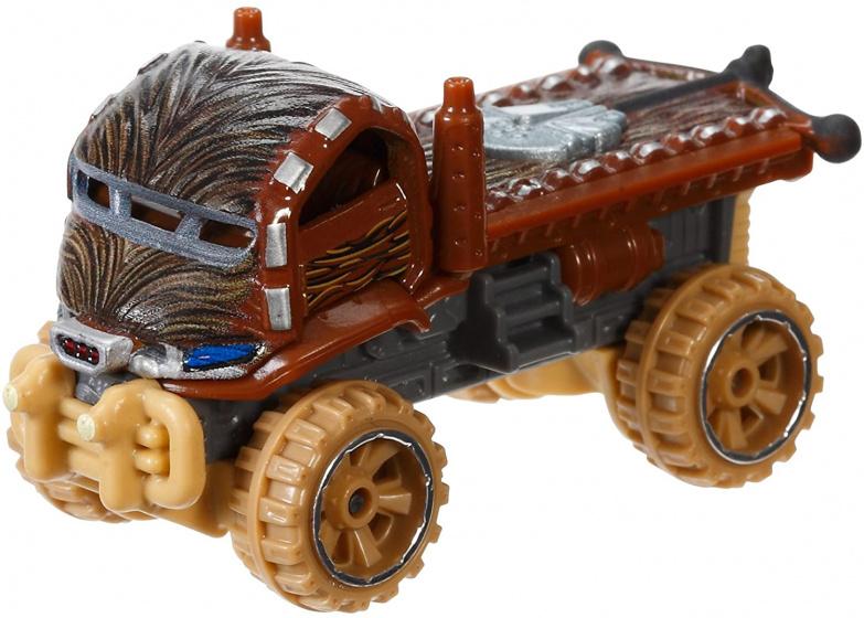 Hot Wheels voertuig Star Wars Chewbacca 7 cm diecast bruin