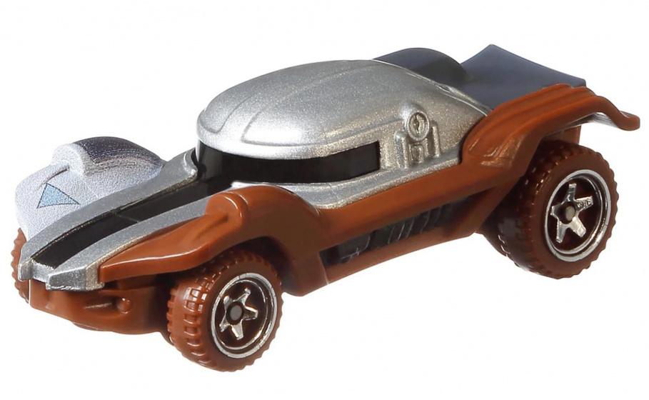 Hot Wheels voertuig Star Wars The Mandalorian 7 cm zilver-bruin