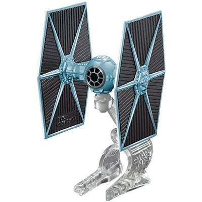 Hot Wheels Star Wars Tie Fighter ruimteschip zwart/grijs 5 cm