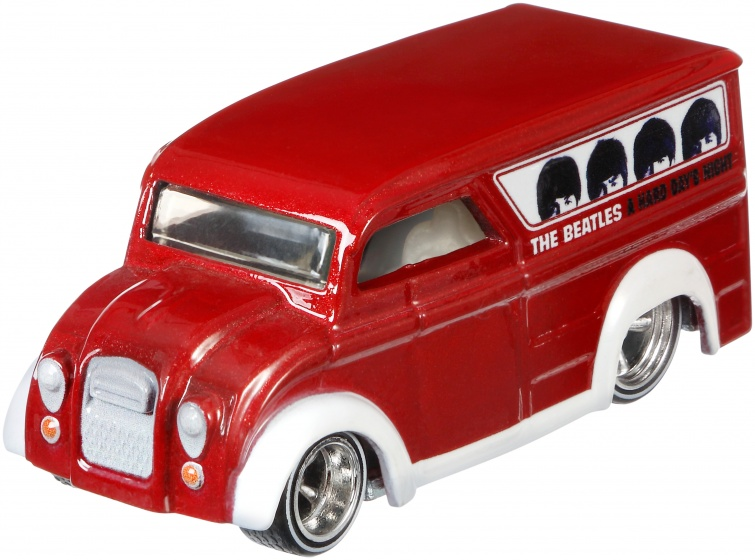 Hot Wheels The Beatles voertuig: Dairy Delivery 8 cm