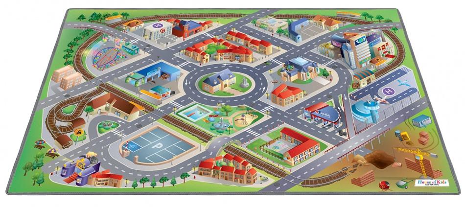 House of Kids verkeerskleed District 100 x 150 cm