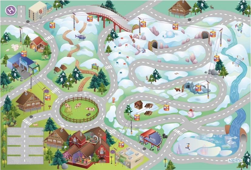 House of Kids Speelkleed Mountain Quadri Connect 100 x 150 cm